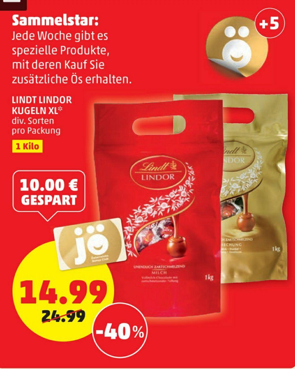Lindt Lindor Kugeln XL 1kg Packung € 14.99 beim Penny