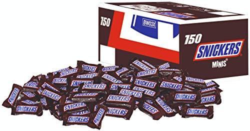 Snickers, Twix, Bounty, Balisto, Milky Way, Mars 150 Mini-Schokoriegel = ca. 10 Cent/Stück