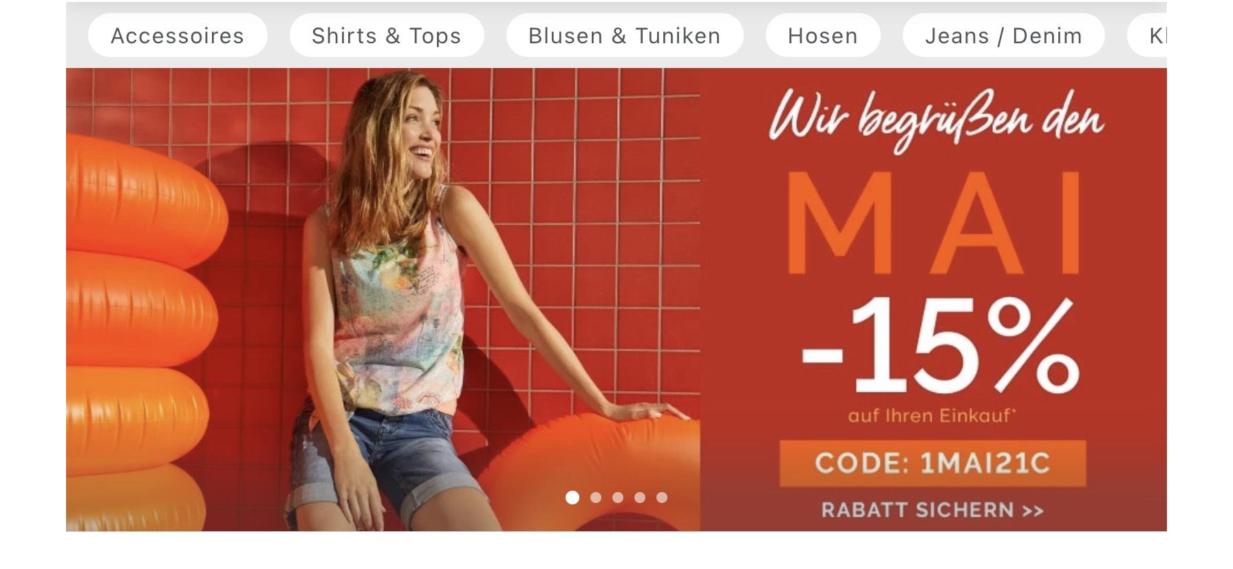 15% im Cecil Onlineshop auf alles