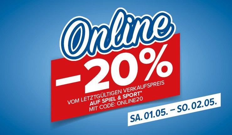 """Hervis: 20% Rabatt auf """"Spiel & Sport"""""""
