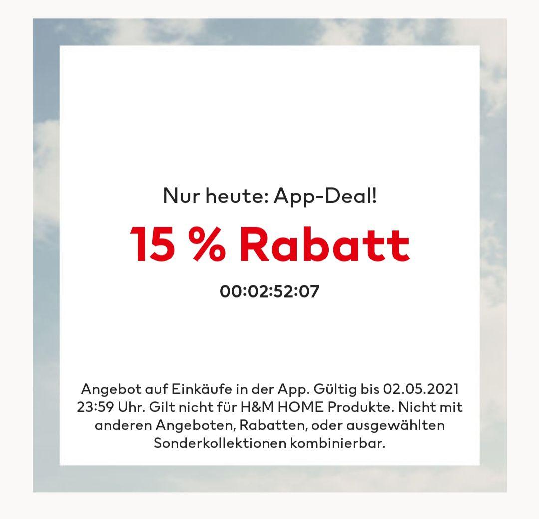 H&M 15% in der App nur noch heute