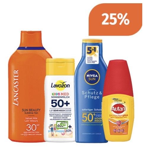 Müller: -25% auf alle Sonnenpflege- und Insektenschutzprodukte