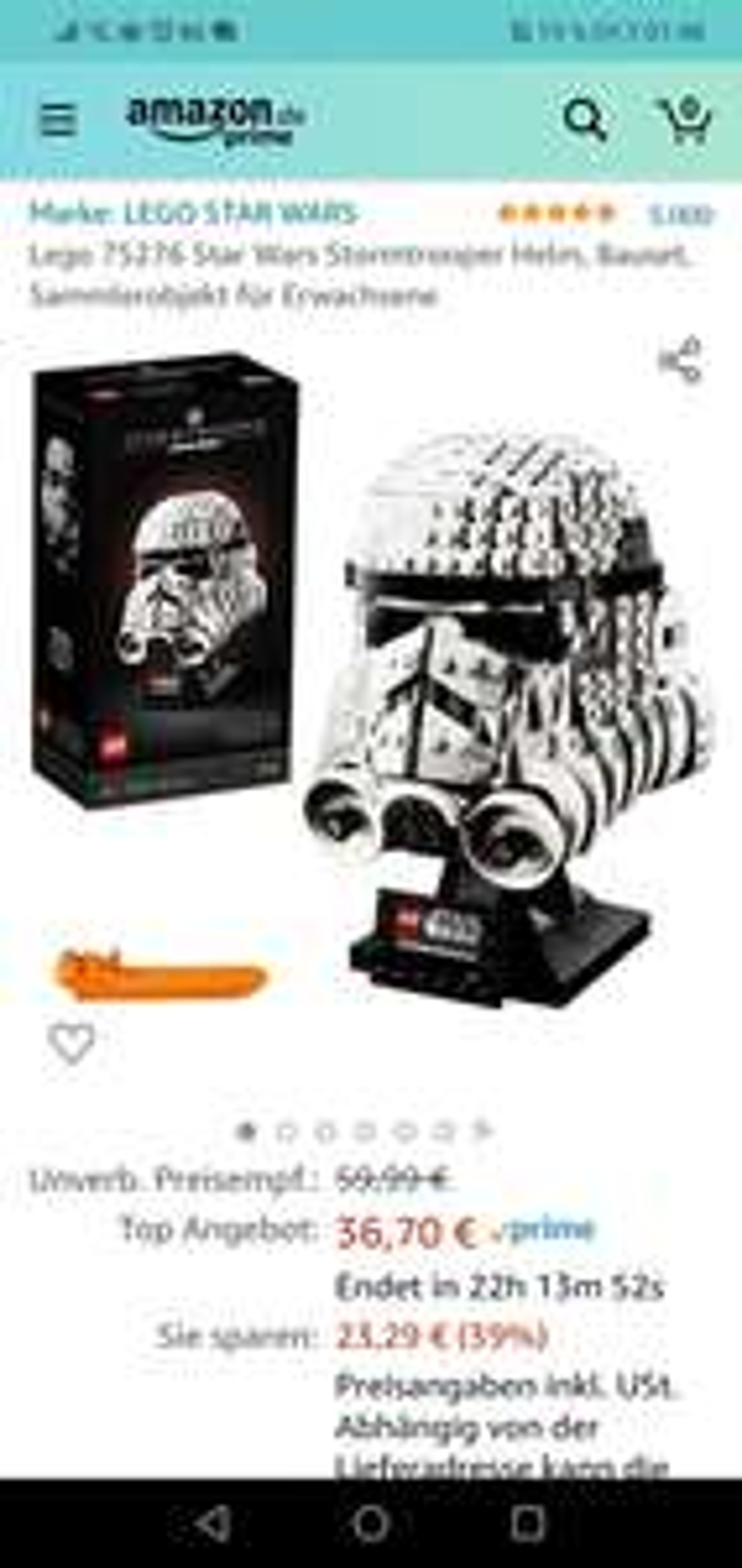 Lego 75276 Star Wars Stormtrooper Helm