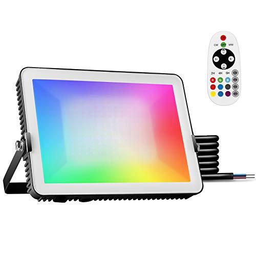 Outdoor RGB LED Strahler mit Fernbedienung, 100W