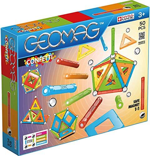 Geomag - Classic Confetti Magnetkonstruktionen und Lernspiel, 50-teilig
