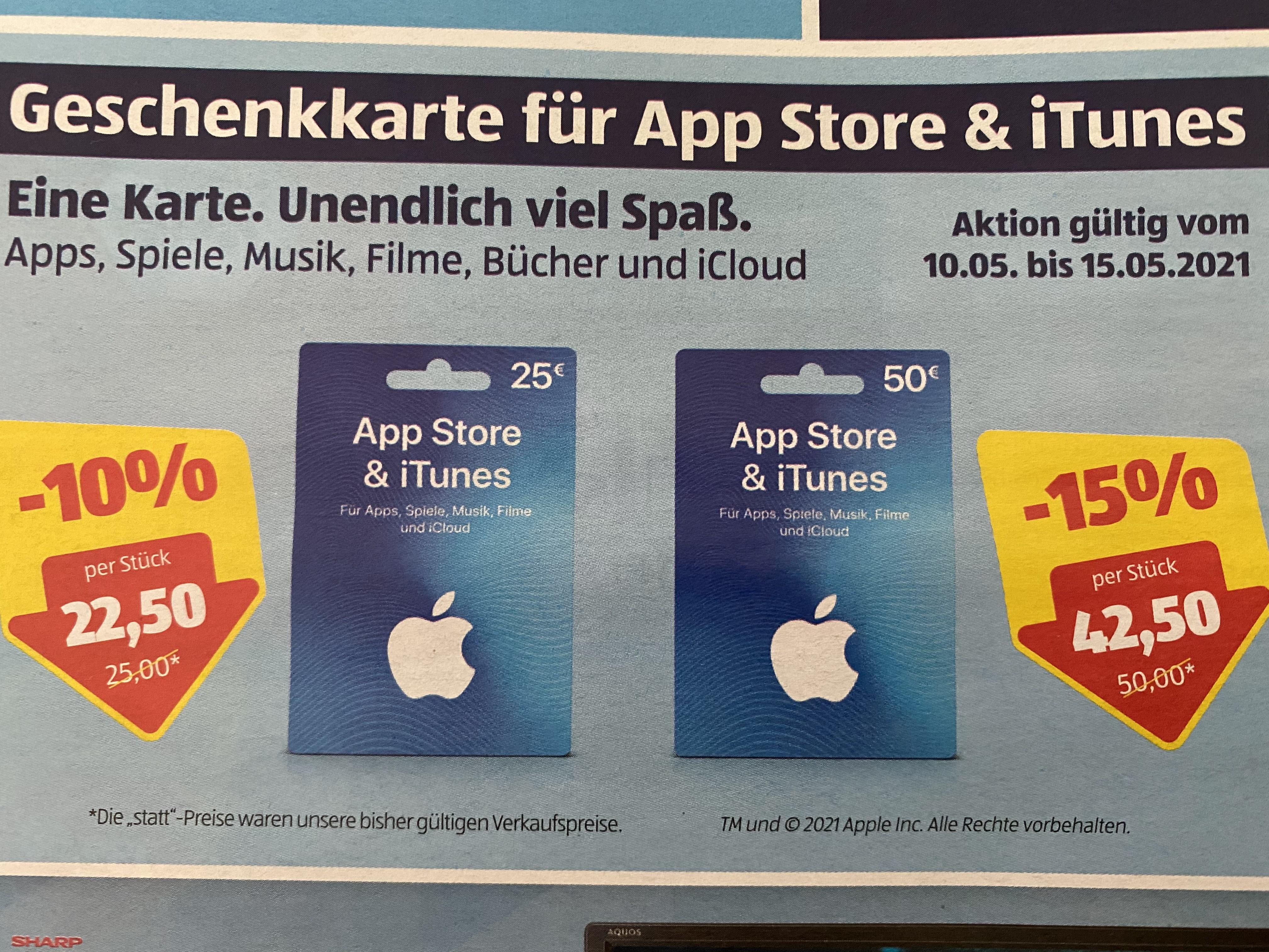 App Store & iTunes Karten bei Hofer