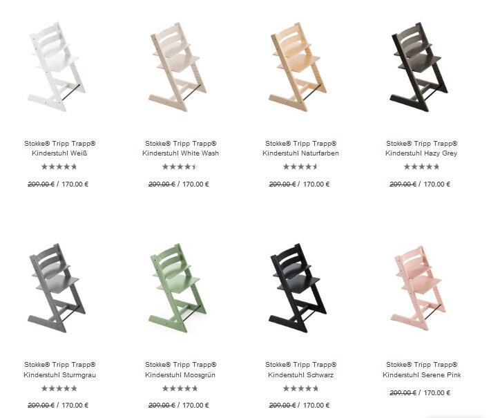 Stokke® Tripp Trapp® Kinderstuhl in 9 vers. Farben