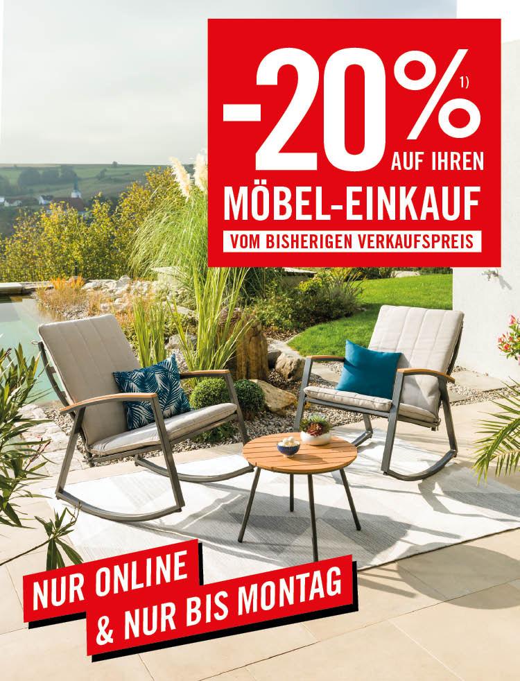 kika: -20% auf Möbel (nur online)