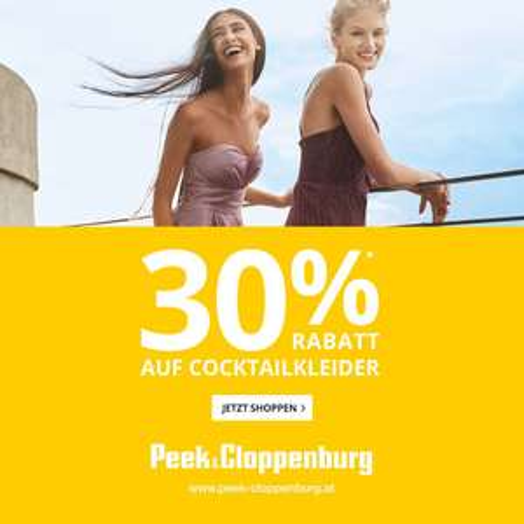 Peek & Cloppenburg: 30% Rabatt auf fast alle Cocktailkeider, inklusive Sale