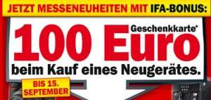 100€ Media Markt Geschenkskarte gratis - zum Kauf ab 500€
