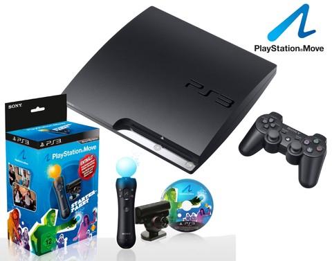Sony Playstation 3 320GB + Move Starter Paket für 290€