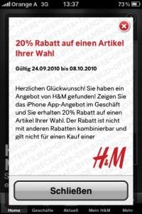 Bei H&M sparen - bis zu 25% Rabatt auf einen Artikel deiner Wahl