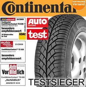 Winterreifen: Continental Conti WinterContact TS 830 (mehrfacher Testsieger) für 45€ *UPDATE* mit 20€ Cashback