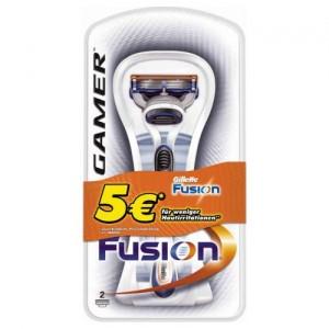 Gillette Fusion Gamer + 2 Rasierklingen für nur 2€