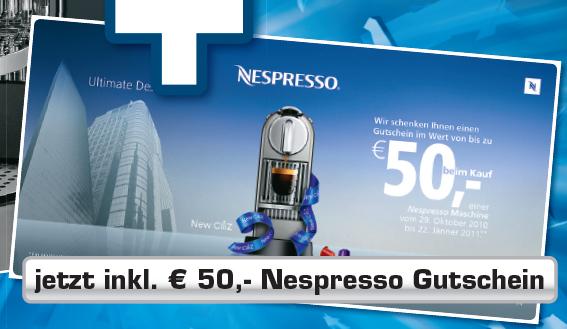 Bis 50€ Cashback für Nespresso Maschinen