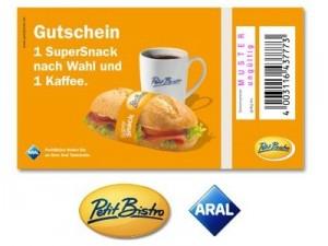 Speeddeal fürs Aral-Bistro: SuperSnack & Kaffee ab je 1€