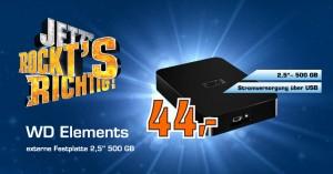 """WD Elements externe Festplatte 2,5"""" 500GB für 44€ bei Saturn Deutschland *Update* Jetzt bei Media Markt und Amazon"""