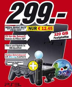 Wahnsinn! Playstation 3 Move Bundle + Start the Party bei Amazon für 299€!
