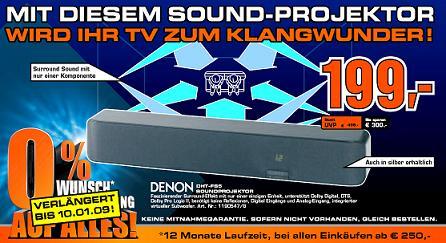 [Audio] Denon DHT-FS 5 X-Space 5.1 System für 199€
