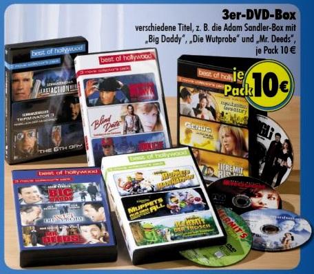 3er DVD-Boxen für je 10€ @Tedi-Discount