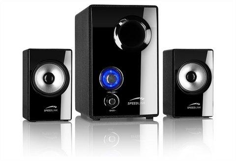 Speed-Link Vivo 2.1 PC-Lautsprechersystem (SL-8209-SBK) für 21,45€