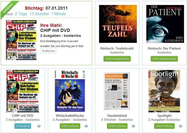 Zeitschriftenabos kostenlos und ohne Kündigung - CHIP mit DVD, WirtschaftsWoche, Handelsblatt *UPDATE* Wieder da!