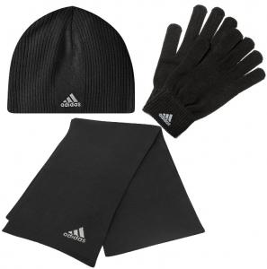 3teiliges Adidas Winter Set (Mütze, Schal, Handschuhe) für 25€
