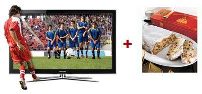 Samsung LE46C750 3D-LCD-Fernseher mit 3D Brille + gratis Dresdner Stollen für 969€
