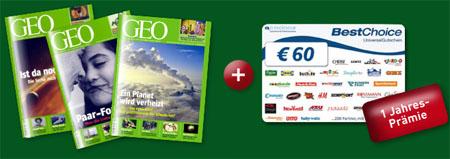 GEO Jahresabo für 7,80€ *UPDATE* auch für Österreicher