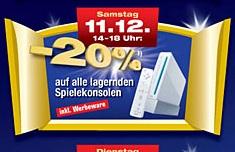 Nur morgen: 20% Rabatt auf alle Spielekonsolen (14:00 - 18:00) @Metro Österreich!