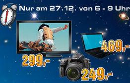 3 Stunden, 3 Angebote am 27.12. bei Media Markt und Saturn Österreich!