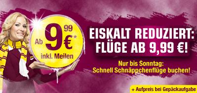 Germanwings Flüge für 9,99€ + Luftverkehrssteuer