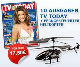 "Guter RC-Helikopter ""AirAce Flash Back"" im TV Today Abo für 17,50€ *UPDATE*"
