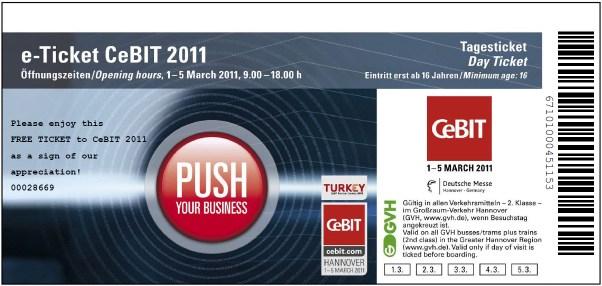 Freikarten zur CeBIT 2011: Kostenlose Tagestickets mit Aktionscode