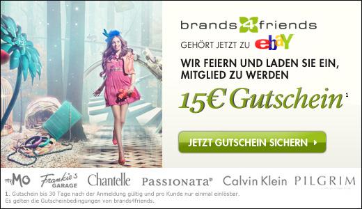 Schnell 15€ Gutscheinguthaben für brands4friends sichern *UPDATE* 25€ Guthaben