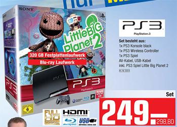 Playstation 3 320GB + Little Big Planet 2 für 299€ bei Metro