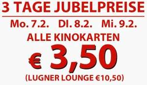 Kinotickets für 3,50€ in der Lugner Kino City in Wien