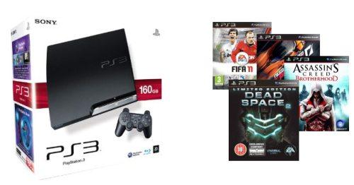 PS3 160GB + Spiel nach Wahl (Dead Space 2, AC: Brotherhood, ...) für 260€ *Update*