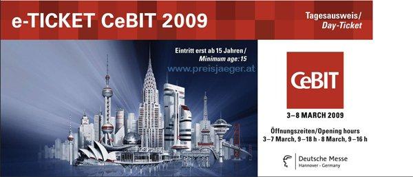 [Aktion] Gratis Eintrittskarten für die CeBIT 09