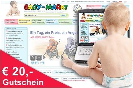 20€ Baby-Markt Gutschein für 10€ *UPDATE Jetzt bei ProSiebenProducts