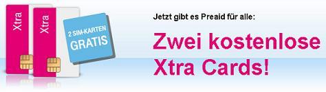 [Gratis] 2 kostenlose Prepaid-Simkarten mit je 6€ Guthaben