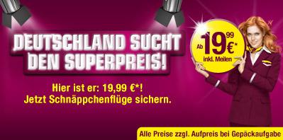 Germanwings Flüge ab 20€ inkl. Luftverkehrssteuer
