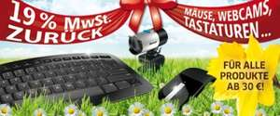 Microsoft Hardware Aktion: 19% Cashback auf PC-Zubehör