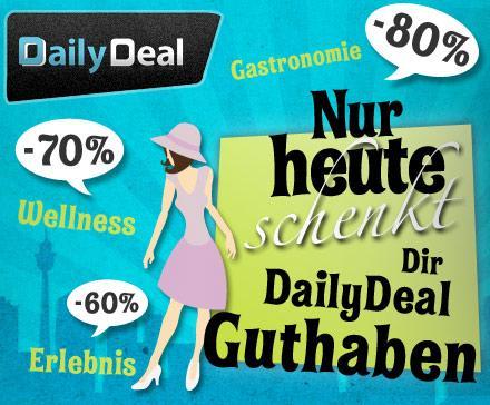 25€ DailyDeal Guthaben für 15€! bis 15:00 Uhr