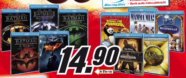 [Blu-ray] Blu-rays für 15€ bei Amazon