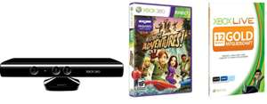 XBox 360 Kinect inkl. Adventures + 12 Monate XBox Live Gold für 106€ *Update*
