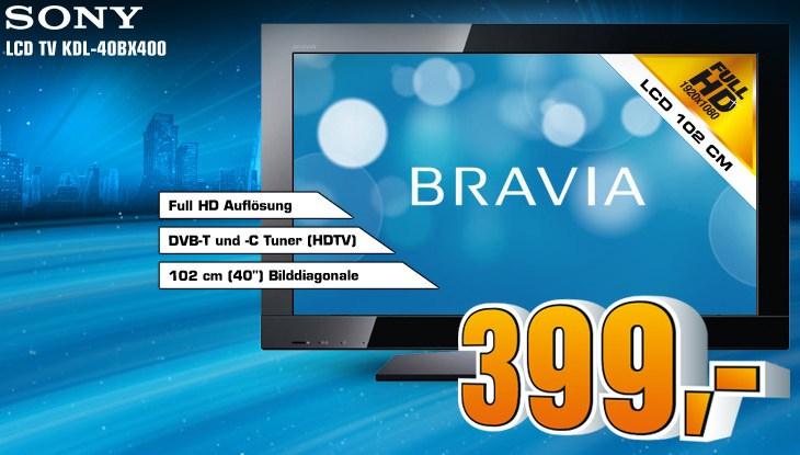 Sony KDL-40BX400 bei Saturn Deutschland für 399€