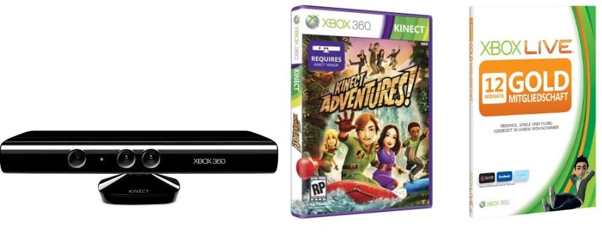 Xbox Kinect + 12 Monate Live Gold zusammen nur 99€ *Update*