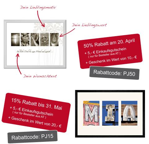 Exklusiv: -50% auf naumi® Collection Bilder mit Wunschtext zum Muttertag