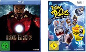 Amazon Osternest - Iron Man 2 für 9€ und Raving Rabbids für 22€